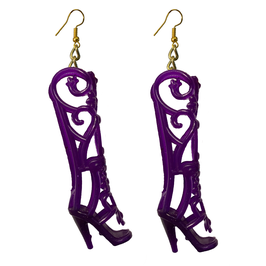 Earrings - Shoes - Purple Fairy Boots