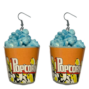 Earrings - Blue Popcorn