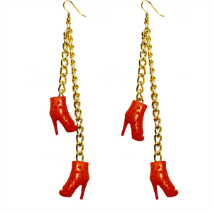 Earrings - Shoes - (Two) Red Boots