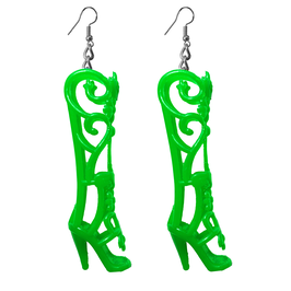 Earrings - Shoes - Green Fairy Boots