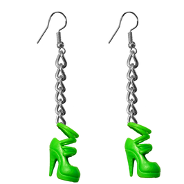 Earrings - Shoes - Green High Heels