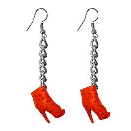 Earrings - Shoes - Red Boots