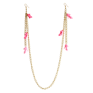 Earrings - Necklace Pink Doll Heels