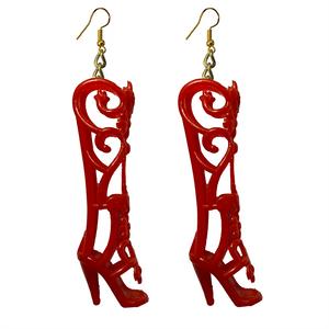 Earrings - Shoes - Red Fairy Boots