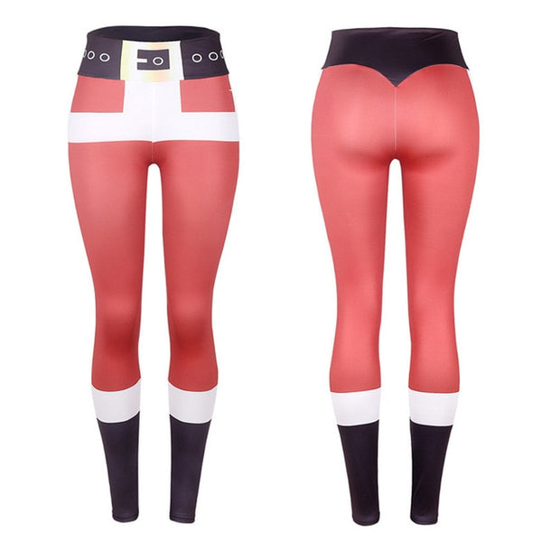 42dce0714a615 New Sexy Training Women's Sports Christmas Sports Gym Yoga Running Fitness Leggings  Pants Athletic Trouser Elastic