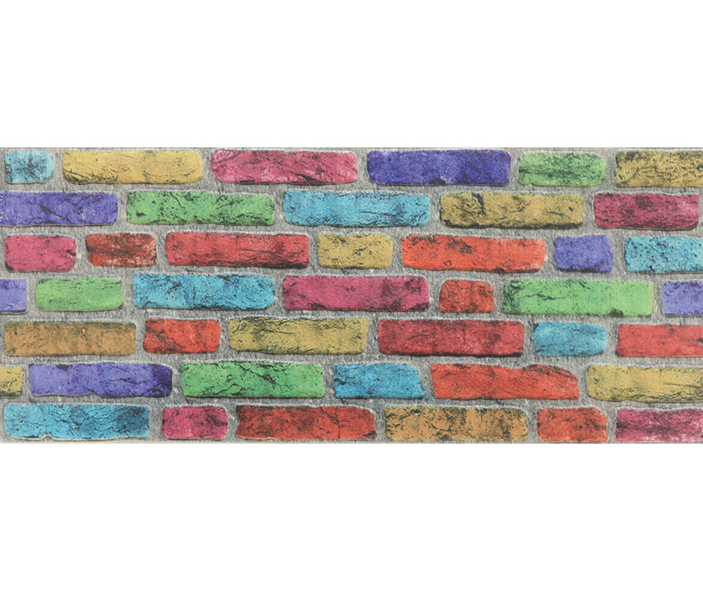 Rainbow Brick Wall Panel - PeronShop