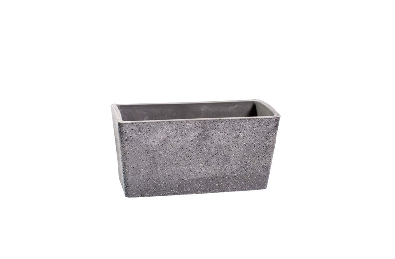 Imitation Stone Grey Rectangle Planter 27cm
