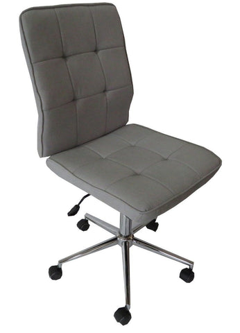 Oslo light grey fabric gas lift office chair