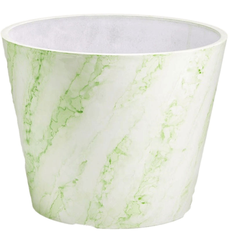 Green & White Imitation Marble Pot 25cm
