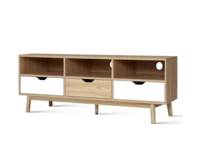 Artiss TV Cabinet Entertainment Unit Stand Wooden Storage 140cm Scandinavian