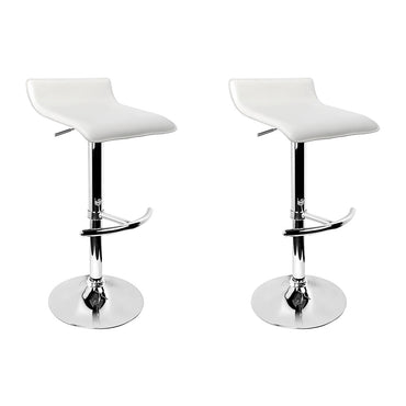Artiss Set of 2 PU Leather Wave Style Bar Stools - White