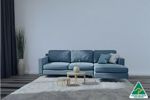 Grayson 3.5 Seater Chaise Lounge ( Blue )