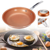 Non-stick Skillet Copper Red Pan