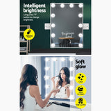Embellir Hollywood Wall mirror Makeup Mirror With Light Vanity 12 LED Bulbs