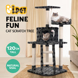i.Pet Cat Tree Trees Scratching Post Scratcher Tower Condo House Furniture Wood Grey