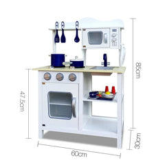 Keezi 18 Piece Kids Kitchen Play Set - White