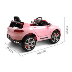 Kid's Electric Ride on Car Electric Porsche Macan Style- Pink