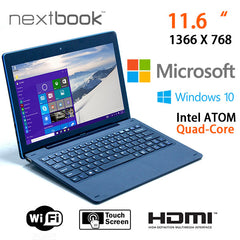 Nextbook 11.6 Inch 64G Windows 10 Quad Core with HDMI Output Tablet PC (M1106BFD)
