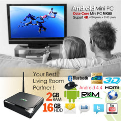 RKM Octa Core 4K Android PC MK80 with 16GB Flash/ 2GB DDR3