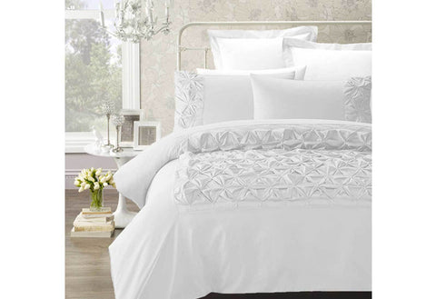 Phase2 Claudia White Queen Size Quilt Cover Set (3PCS)