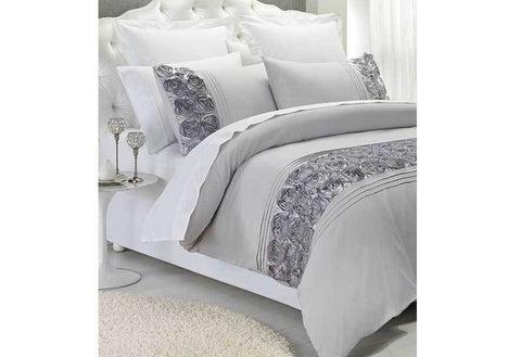 Phase2 Palazzo Silver Queen Size Quilt Cover Set (3PCS)