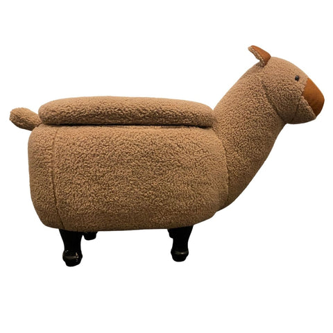 Horace Brown Alpaca Kiddie Ottoman with Storage