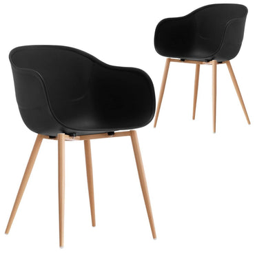 Jayden Black Charming Beetle Dining Chair Set of 2