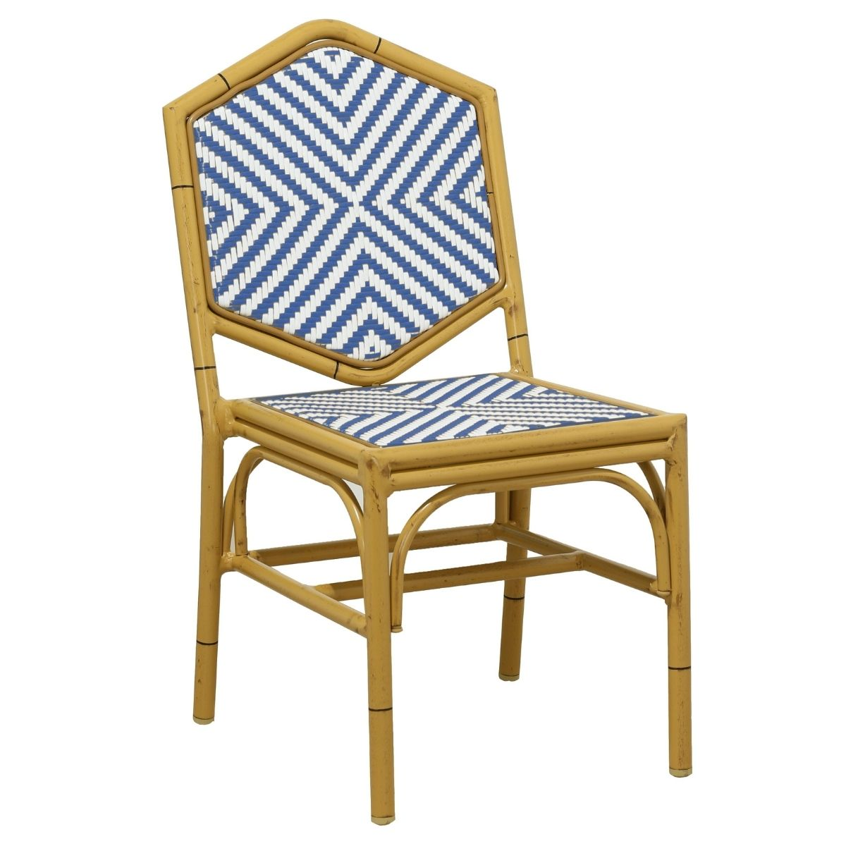 Miley French Flair Blue Outdoor Dining Chair Set of 2