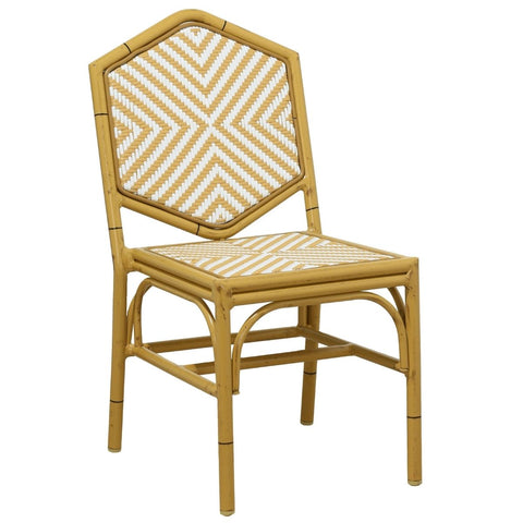 Miley French Flair Natural Outdoor Dining Chair Set of 2