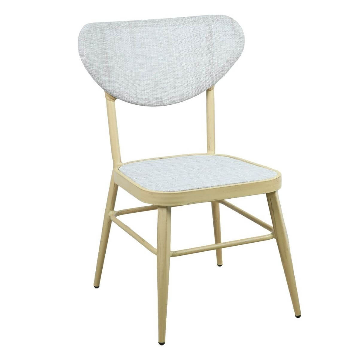 Sammy Modern Retro Natural White Outdoor Dining Chair Set of 2