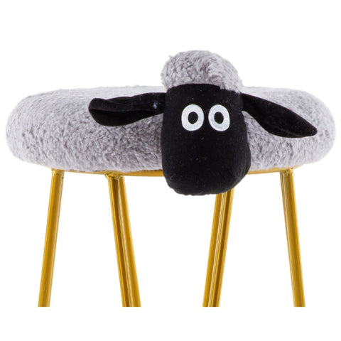 Gee Golden Legs Grey Sheep Kiddie Stool
