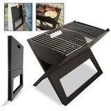 Portable Notebook Grill BBQ Foldable Folding Charcoal Camping Barbecue Picnic
