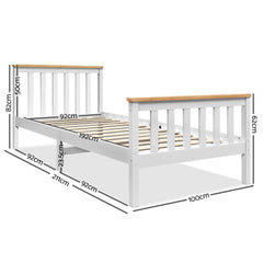 Artiss Single Wooden Bed Frame Bedroom Furniture Kids