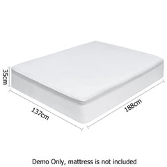 Giselle Bedding Double Size Waterproof Bamboo Mattress Protector