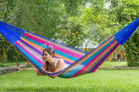 Jumbo Nylon Plus Hammock in Mexicana