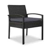Gardeon Outdoor Furniture Bistro Wicker Chair Black