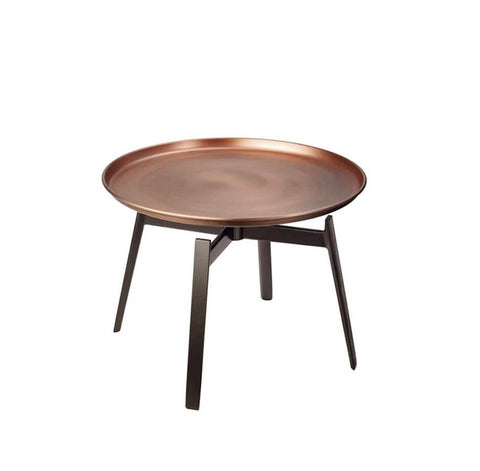 High Coffee Table with Metal Tray