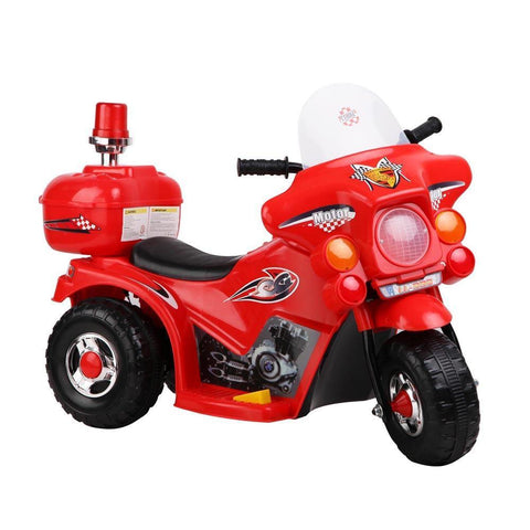 Kid's Electric Ride on Patrol Motorbike - Red
