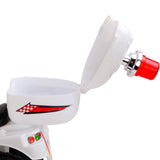 Kid's Electric Ride on Patrol Motorbike - White