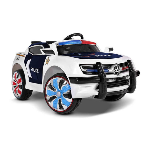 Kid's Electric Ride on Car Police Ford Style- Black & White