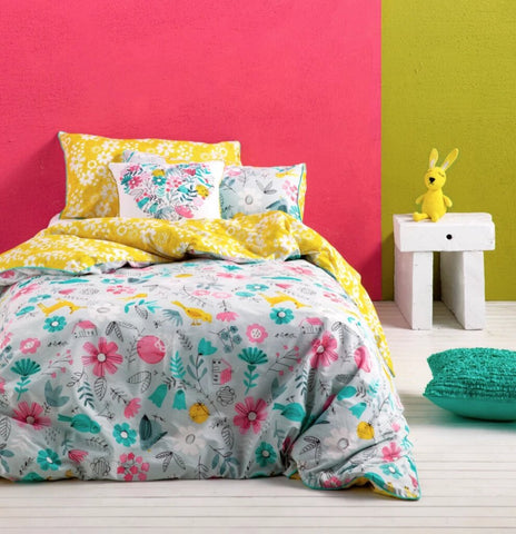Wonderland Single Quilt Cover Set by Kas Kids