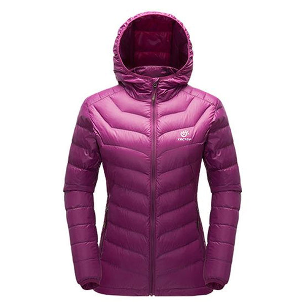 c7d1e6cc19 Tectop Women's Down Hooded Outdoor Hiking Jacket