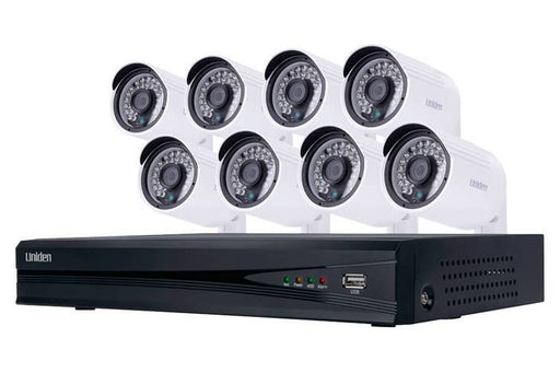 16 channel 8 camera 1080P wired security system UNVR165x8 security cameras uniden