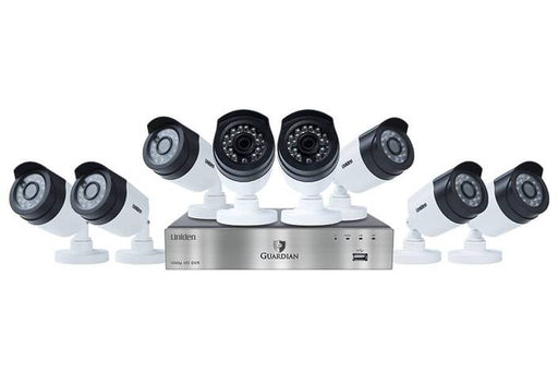 1080P wired security system 8 channel 8 camera G6880D2 security system uniden