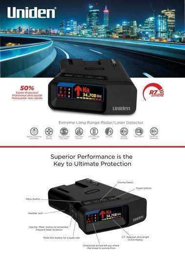 12 extreme long range radar detector with gps threat detection A1-R7 radar detectors uniden