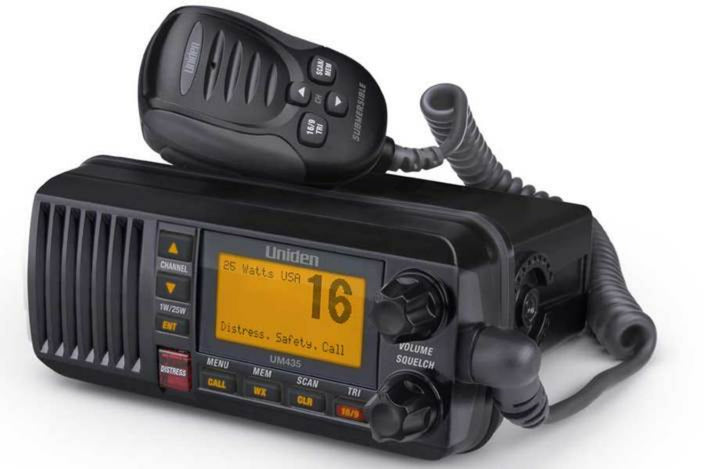 2 25watt full featured fixed mount VHF black marine radio UM435BK marine radios uniden