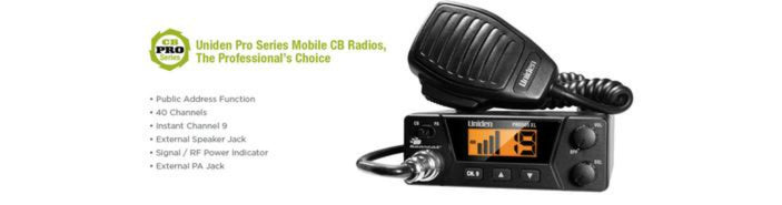 2 40 channel compact mobile cb radio PRO505XL cb radio uniden
