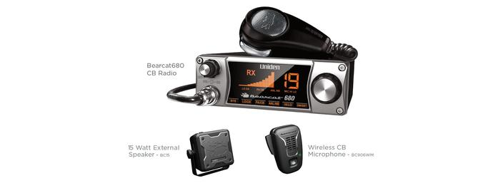 2 CB Radio 40 channel with pistol grip mic BEARCAT680 cb radio uniden