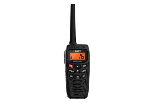 2 Handheld Two-Way Floating VHF Marine Radio Atlantis 270 Marine radio Uniden