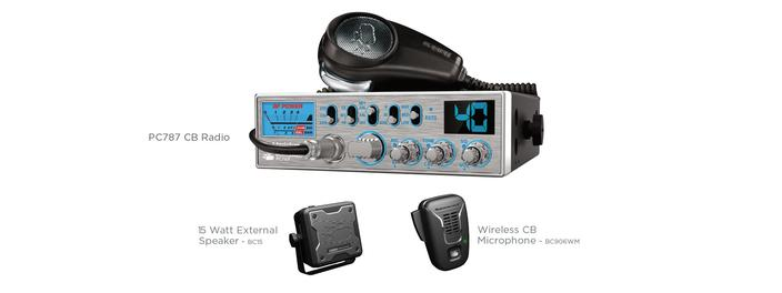 2 cb bundle accessories PC787SPWM cb radio uniden
